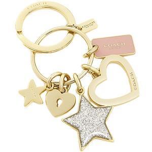 COACH 愛心星粉紅造型金屬鑰匙圈(現貨+預購)