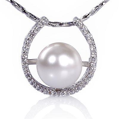 【小樂珠寶】可愛日系風格,不平凡設計風---頂級3A南洋深海貝珍珠墬鍊