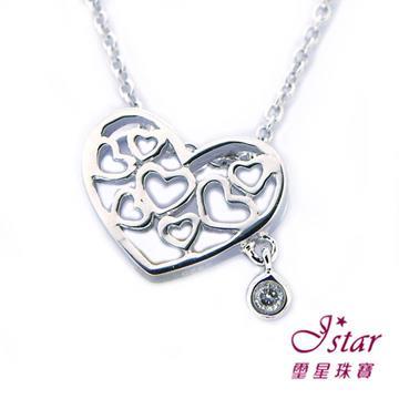 Jstar 璽星-925純銀鑽石項鍊-馨晴