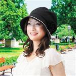 日本sunfamily 抗UV時尚防曬小臉帽(黑色)