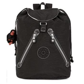 KIPLING 束口後背包-黑色 (現貨+預購)