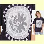 【摩達客】(預購) 美國進口ColorWear 沈睡天使貓 禪繞畫療癒藝術 環保短袖T恤
