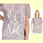 【摩達客】(預購) 美國進口ColorWear LOVE愛 禪繞畫療癒藝術 環保短袖T恤