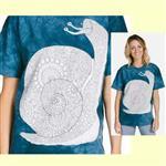 【摩達客】(預購) 美國進口ColorWear 蝸牛 禪繞畫療癒藝術 環保短袖T恤