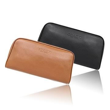 COACH 簡約真皮化妝收納包 (現貨+預購)
