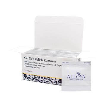 【英國ALLOYA愛若雅】卸甲包(一步膠專用)1盒100片 輕巧包裝貼心背膠設計便利使用出國方便