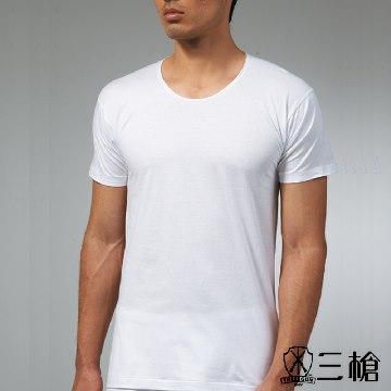 三槍牌 3件組白色時尚型男純棉短袖汗布衫