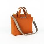twinwow - 時尚臻品 - 細緻質感手提/側背包 - 暗橘