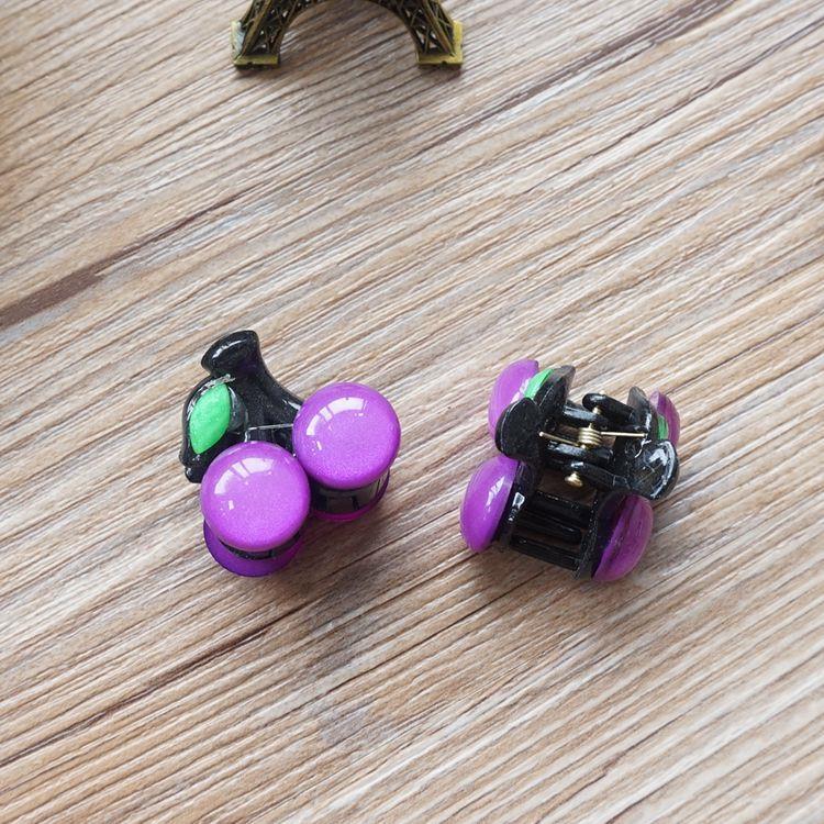 果漾櫻桃髮夾/抓夾-05.魅力紫(單個入)