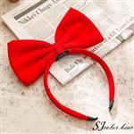 【卡樂熊】小魔女宅急便相似款蝶結造型髮箍-紅色