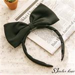 【卡樂熊】小魔女宅急便同款蝶結造型髮箍-黑色