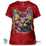 【摩達客】美國進口The Mountain 九命小紅貓 短袖女版T恤精梳棉環保染