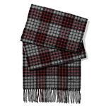 COACH 格紋羊毛流蘇圍巾-紅灰 (現貨+預購)