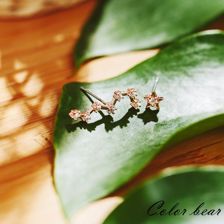 【卡樂熊】清澈璀璨的星空耳環-玫瑰金