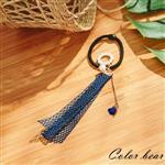 【卡樂熊】氣質花圈吊墜玫瑰髮束-藍色