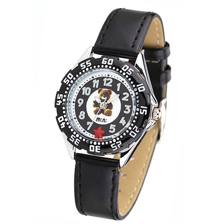 【韓國MINI 】手工軟陶創意手錶-可愛熊(黑)