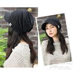 日本(QUEEN-HEAD)抗UV抗寒保暖設計感耳帽(秋冬款098黑)