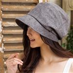 日本(QUEEN-HEAD)抗UV抗風可折疊綺麗防曬帽(0089灰色)