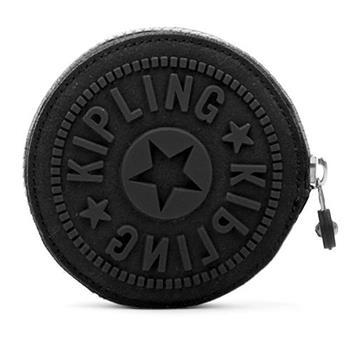 KIPLING 拉鍊零錢包-黑 (現貨+預購)