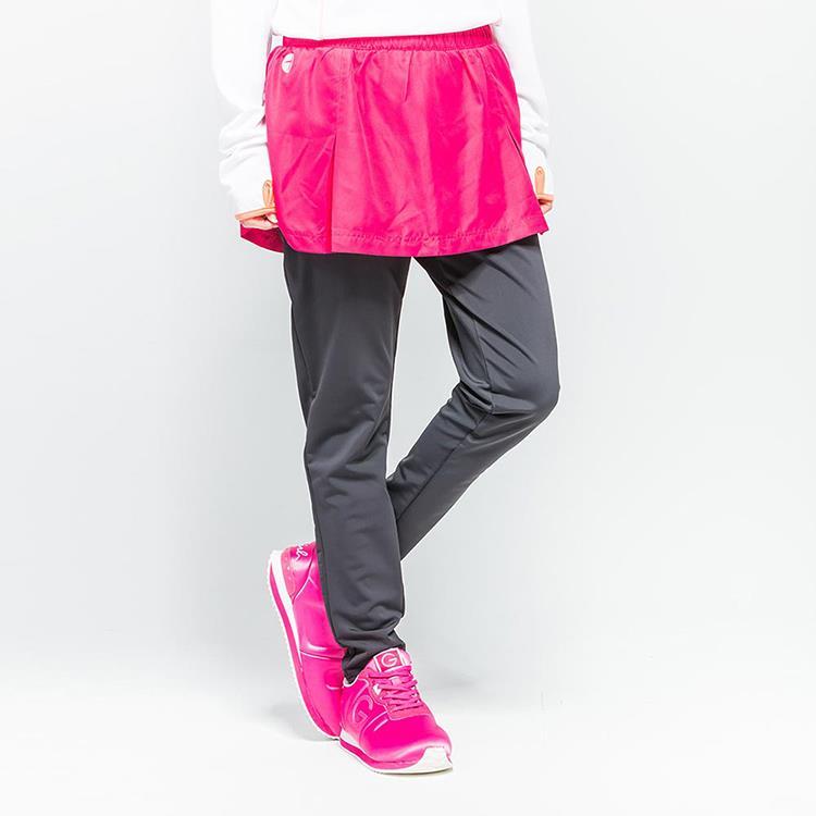 TOP GIRL 兩件式打摺褲裙 暗紅