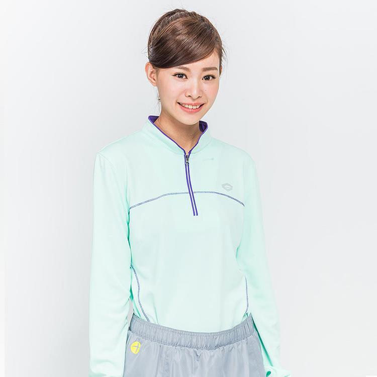 TOP GIRL 陽光律動運動立領上衣 淺綠