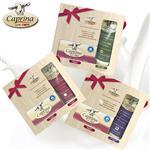 【Caprina肯拿士】新鮮山羊奶經典禮盒(身體乳液75ml與原味皂110g)超值3入組