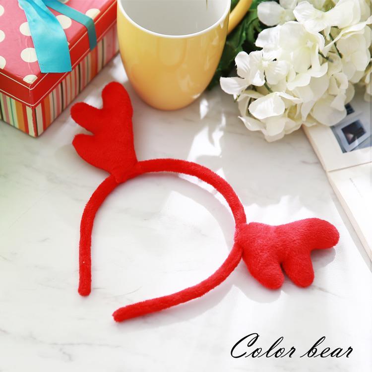 【卡樂熊】萌系紅色馴鹿造型髮箍-紅色