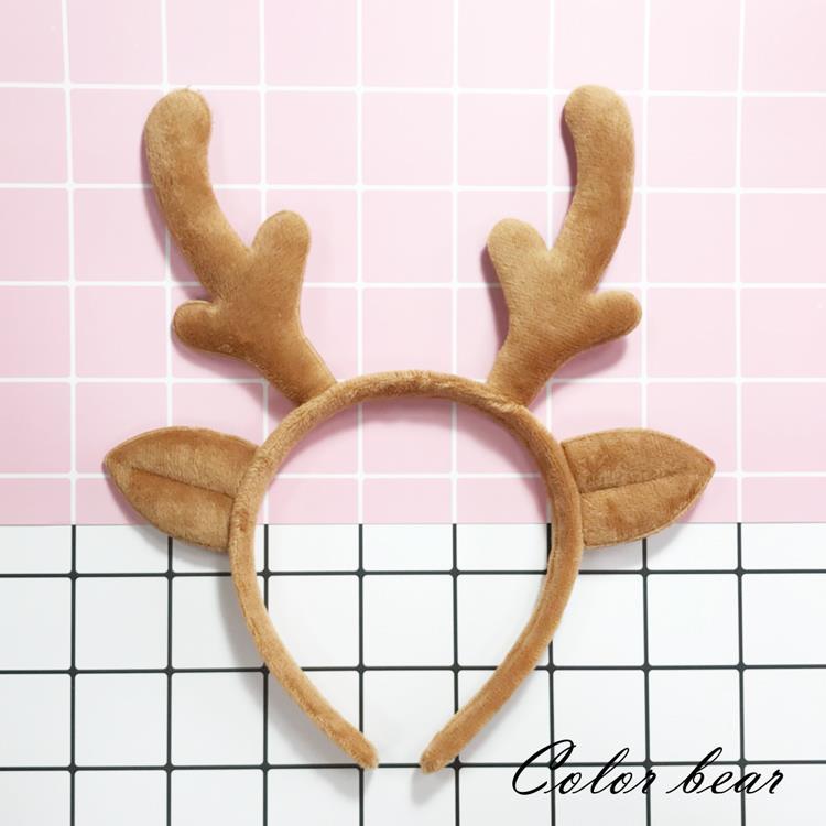 【卡樂熊】萌系駝色馴鹿造型髮箍-駝色