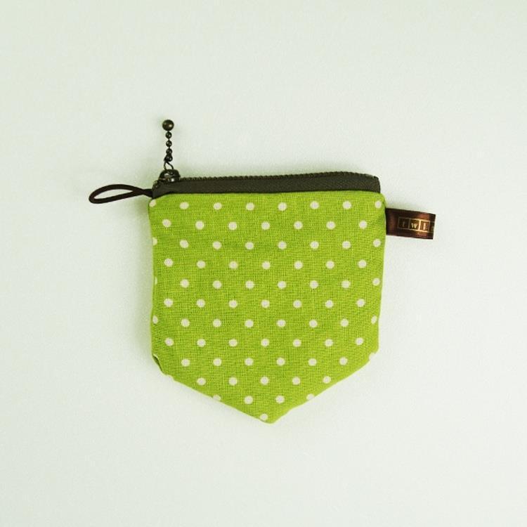 twinwow - 原點時尚 - 細緻質感零錢包 - 點點綠