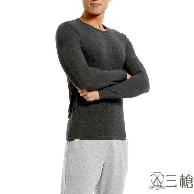 【三槍牌】時尚經典台灣製舒適男長袖TG-HEAT發熱衣 2件組隨機取色