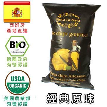 芬拿有機農場 有機橄欖油洋芋片 (三包入 每包100公克)