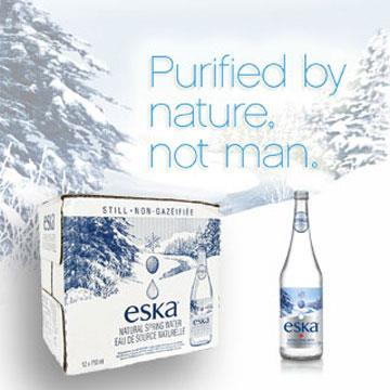 加拿大eska愛斯卡天然冰川水 玻璃瓶 750mlx12瓶 (箱)