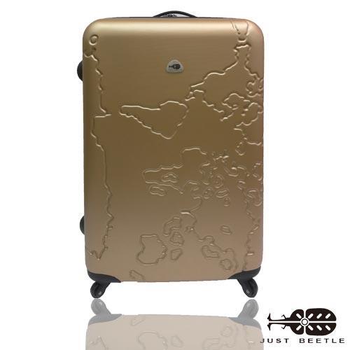 JUSTBEETLE地圖系列ABS輕硬殼行李箱24吋