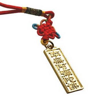【藏傳佛教文物】阿彌陀佛掛牌 吊件 護符(PB-N00034)