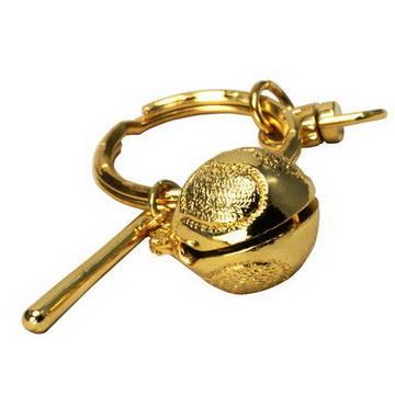 【藏傳佛教文物】金木魚鑰匙圈 吊飾(PB-N00032)
