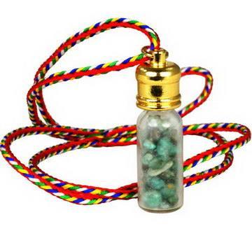 【藏傳佛教文物】綠松石隨身嘎鳴(小佛龕)項鍊 吊墜 護身符(PB-N00026)
