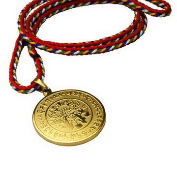【藏傳佛教文物】大白傘蓋心咒項鍊 吊墜 護身符(PB-N00023)