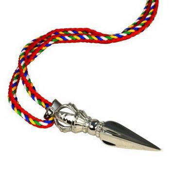 【藏傳佛教文物】珍寶普巴杵項鍊 吊墜 護身符(PB-N00022)