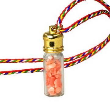 【藏傳佛教文物】珊瑚隨身嘎鳴(小佛龕)項鍊 吊墜 護身符(PB-N00021)