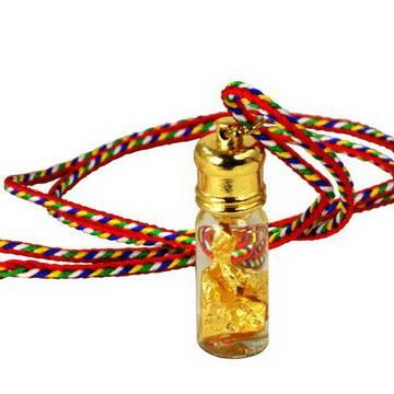 【藏傳佛教文物】金箔水隨身嘎鳴(小佛龕)項鍊 吊墜 護身符(PB-N00019)