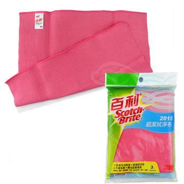 【3M】百利魔布超潔拭淨布30X30-3入/包-2包(粉色)