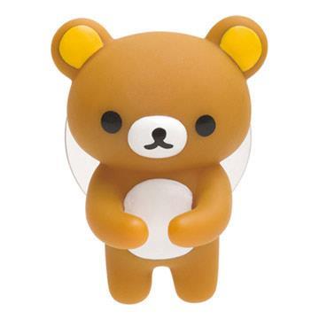 San-X 懶熊浴室立體吸盤牙刷架。懶熊