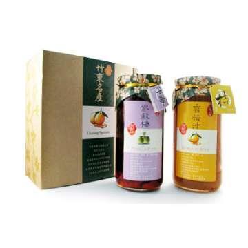 《好客-阿金姐》兩入組禮盒(香桔汁+紫蘇梅 550g/2入)_A007001