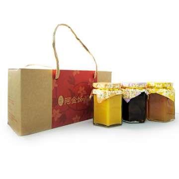 《好客-阿金姐》三入組禮盒(客家桔醬300g+香桔汁350g+紫蘇梅350g)_A007002