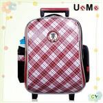 【UnMe】格菱高年級拉桿後背兩用書包/紅格色
