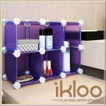 【ikloo】輕巧迷你6格收納櫃/組合櫃-5.8吋(4色可選)