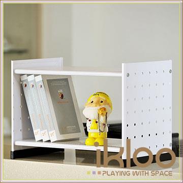 【ikloo】貴族風可延伸式組合書櫃/書架一入