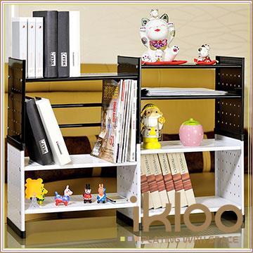 【ikloo】貴族風可延伸式組合書櫃/書架四入組