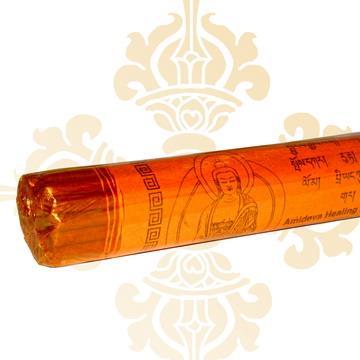 【藏傳佛教文物】臥香-阿彌陀佛 尼泊爾純手工法製造線扎臥香