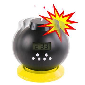 【福利品】MY-mono 儲金炸彈鬧鐘。黃色款